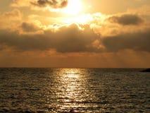 Tyrrhenian θάλασσα, ηλιοβασίλεμα Στοκ Εικόνες