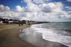 Tyrrhenian Sea in autumn. Italy, Ostia Royalty Free Stock Images