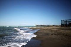 Tyrrhenian Sea in autumn. Italy, Ostia Stock Photography