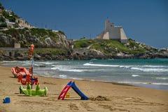 Tyrrhenian Sea Beach near Sperlonga, Italy Stock Image