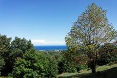 Tyrrhenian sea and  Corsica coast Royalty Free Stock Photos