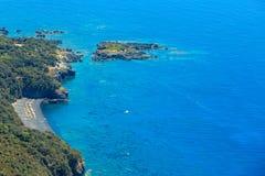 Tyrrhenisches Seeküste nahe Maratea, Italien stockfotos