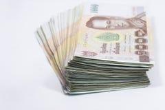 Tysiąc bahta Tajlandia banknotów Zdjęcia Royalty Free