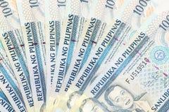 Tysiąc Filipińskich peso banknotów fotografia stock