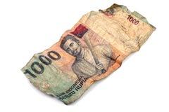 Tysiąc Indonezyjskiej rupii banknotów Fotografia Stock