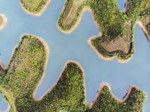 Tysiąc jezior i Błękitny Słodkowodny obraz royalty free