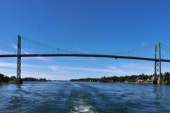 Tysiąc wysp Przerzucają most, Gananoque Zdjęcia Royalty Free
