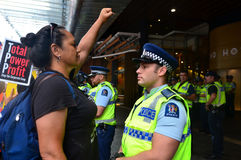 Tysiące protest Przeciw TPPA w Środkowym Auckland Nowa Zelandia Fotografia Royalty Free