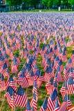 Tysiące USA flagi zasadzać w Boston Common upamiętniać spadać żołnierzy w wojnach, podczas Memorial Day weekendu zdjęcia royalty free