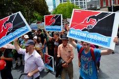 Tysiące wiec dla akci na zmianie klimatu Zdjęcia Royalty Free