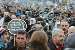 Tysięcy oceny Hrant Dink's śmierć dalej 5 rok obraz royalty free