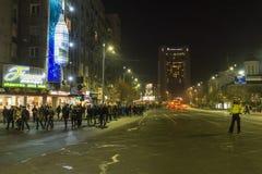 Tysięcy protestujący w Bucharest Zdjęcie Royalty Free
