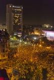 Tysięcy protestujący w Bucharest Fotografia Stock