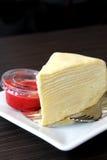 Tysiąc warstew tort truskawki kumberlandu Fotografia Stock