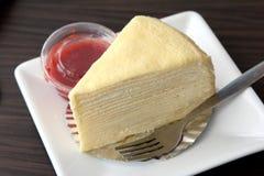 Tysiąc warstew tort truskawki kumberlandu Obraz Stock