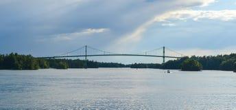 Tysiąc wysp mostów Obrazy Royalty Free