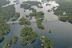 Tysiąc wyspa terenu mostów Obraz Stock