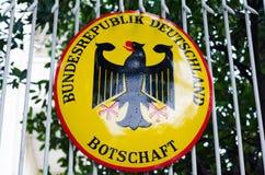 Tysk ambassad i Phnom Penh, Cambodja Royaltyfria Bilder