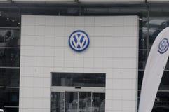 TYSK AUTOMATISK ÅTERFÖRSÄLJARE för VW VOLKS WgaenN I KASTRUP arkivbild