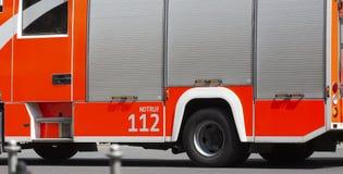 Tysk bakgrund för brandlastbil Arkivbilder