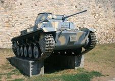 Tysk behållare PzKpfw II Arkivbild