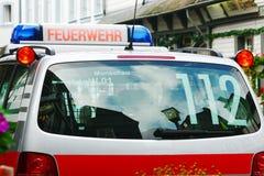 Tysk brandkårbil Royaltyfri Bild
