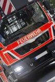 Tysk brandlastbil Arkivfoto
