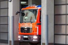 Tysk brandlastbil Royaltyfria Bilder