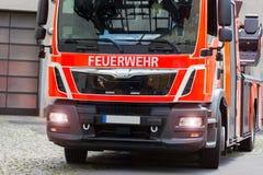 Tysk brandlastbil Arkivfoton