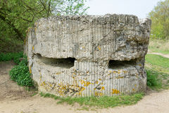 Tysk bunker på kulle 60 nära Ypres Arkivfoton