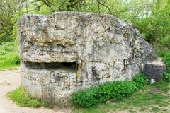 Tysk bunker på kulle 60 nära Ypres Royaltyfri Bild