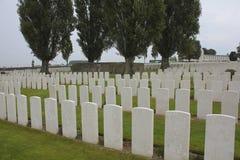 Tysk bunker, Tyne Cot Cemetery, utskjutande Ypres arkivbild