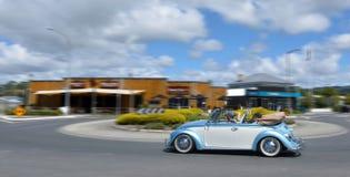 Tysk cabriolet Volkswagen Beetle för motorisk bil Arkivfoto