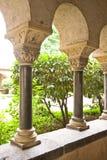 Tysk cloisterträdgård Arkivfoton
