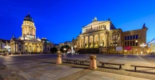 Tysk domkyrka och Konzerthaus, Berlin, Tyskland Royaltyfria Bilder