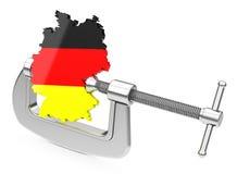 Tysk ekonomi under tryck Arkivbilder