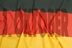 Tysk enhetdag Arkivfoto