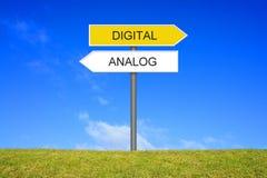 Tysk för vägvisarevisninganalog och Digital arkivbilder