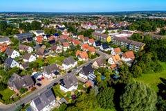 Tysk förort, flygbild Royaltyfri Bild