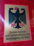 Tysk federal anställningbyrå arkivfoto