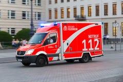 Tysk firetruck Royaltyfria Bilder
