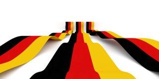 Tysk flagga Royaltyfria Foton