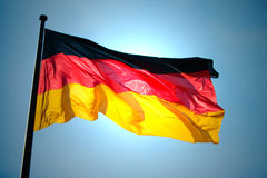 Tysk flagga Royaltyfri Foto