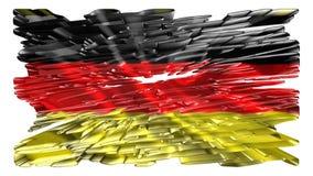 Tysk flagga, animering royaltyfri illustrationer