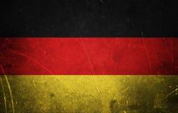 Tysk flagga för Grunge royaltyfria foton