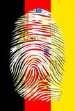Tysk flagga för eurofingeravtryck Fotografering för Bildbyråer