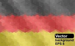 Tysk flagga som göras av geometrisk form Royaltyfri Foto