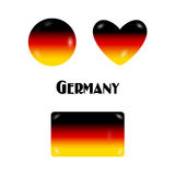 Tysk flaggagodis eller knapp-emblem-ben godisar Arkivbild