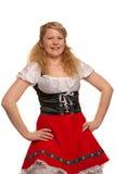 tysk flicka isolerad white arkivbilder