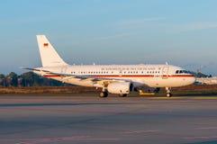 Tysk flygvapenflygbuss A319 15 02 Arkivfoto